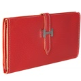 (Red) Buckle Closure Long Wallet