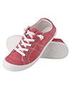 Women canvas sneaker shoes Red Size 41