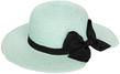 (Teal) Aerusi Mrs Anderson Straw Floppy Hat
