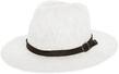(White) Aerusi Coral Jones Fedora Straw Hat