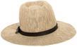 (Beige) Aerusi Coral Jones Fedora Straw Hat