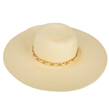 (Beige) Aerusi Mrs Wickman Floppy Straw Hat