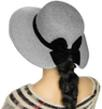 (Gray) Aerusi Mrs Anderson Straw Floppy Hat