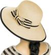(Beige) Aerusi Panama Straw Hat