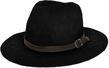 (Black) Aerusi Coral Jones Fedora Straw Hat