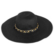 (Black) Aerusi Mrs Wickman Floppy Straw Hat