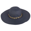 (Navy Blue) Aerusi Mrs Wickman Floppy Straw Hat