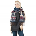 Aerusi Bear Design Winter Scarf (Navy)