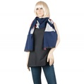 Aerusi England Flag Design Winter Scarf (Navy)