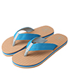 Aerusi Natural Open Toe Flip flop, Aqua Blue