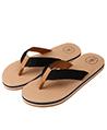 Aerusi Natural Open Toe Flip flop, Black