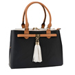 Elisa Top Handle Faux Leather Satchel Handbag