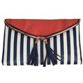(Stripe) Gala Tassel Crossbody Clutch