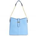 (Aqua) Serena Buckle Tote Bag