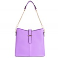 (Lilac) Serena Buckle Tote Bag