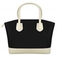 (Black) McKenna Two Tone Tote Bag