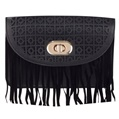 (Black) Fringe Crossbody Bag