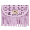 (Lilac) Fringe Crossbody Bag