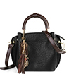 Mini Clova Top Handle Real Leather Satchel Purse