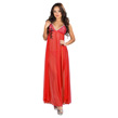 (Red) Sheer Night Gown with Triangle Ba