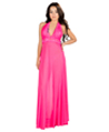 (Hot Pink) Floral Lace Night Gown With