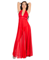 (Red) Floral Lace Night Gown With Halter Neck