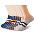 (10 Pack) Retro Variety Men No Show Socks