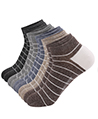 (10 Pack) Oxford Variety Men No Show Socks