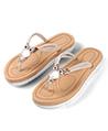 (Ivory) Owl Embellishment Sandals Flip Flops