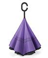 (Purple) Double Layer Reverse Long Umbrella