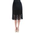 Black Pleated Exquisite Lace Skirt with Elastic