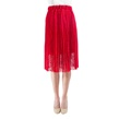 Pleated Exquisite Lace Skirt with Elastic Waist