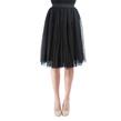 Black Pleated Tulle Skirt with Elastic Waist
