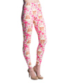 Women's Fashion Leggings Design (Skulls/Pink Flo