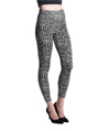 Women's Fashion Leggings Design (Black/White Leo
