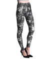 Women's Fashion Leggings Design (Black/White Lig