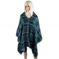 Button Grid Reversible Winter Scarf