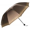 (Coffee) Checker Trim Umbrella