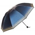 (Blue) Checker Trim Umbrella