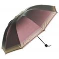 (Plum) Checker Trim Umbrella