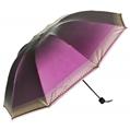 (Purple) Checker Trim Umbrella
