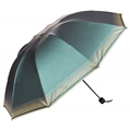 (Aqua) Checker Trim Umbrella