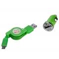 Retractable 2.1A mini USB Car Char