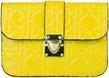 (Yellow) Quilt Design Crossbody Ba