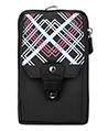 (Black) Design Nylon Travel Pouch