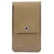 (Tan) Vertical Wallet Carrying Pou