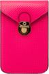 (Pink) Buckle Clasp Vertical Cross