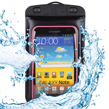 (Black/Pink) Waterproof Pouch With