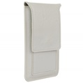 (White) Vertical Wallet Carrying P