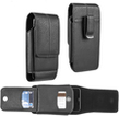 Black Vertical Universal Leather Belt Clip Cellp